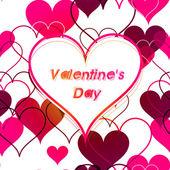 Valentine card. Seamless pattern. Vector — Stock Vector