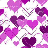 Hearts seamless Background. Vector — Vector de stock