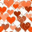 Hearts seamless Background. Vector - Stock Vector