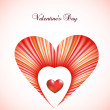 Royalty-Free Stock Vector Image: Valentine day card template with heart. Vector