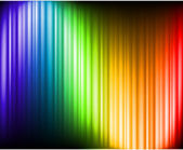 Rainbow Colors Abstract Horizontal Lines card — Stock Vector