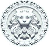 Vintage Lion Head Sculpture. Vector — Stock Vector