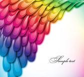 Rainbow floral retro card design. Vector — Stock Vector