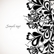 Retro black floral design. Abstract vector - Stock vektor
