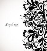 Design floral noir rétro. abstract vector — Vecteur