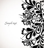 Retro black floral design. Abstract vector — Vector de stock