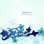 Blue Floral Design. Vector — Stock Vector #5096219