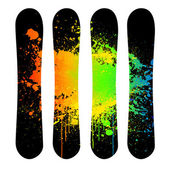 Vector grunge snowboard set — Stock Vector