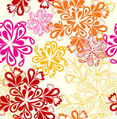 Flower Pattern seamless. Vector on white over — Stock Vector