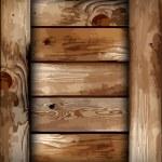 Fragile wooden box. Vector illustration — Stock Vector