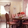 Dinner room interior — Stock Photo