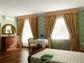 Schlafzimmer innenraum — Stockfoto