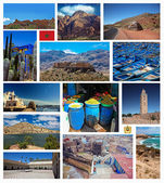 Collage of Morocco photo — Stock Photo