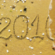 End of 2010 on beach — Stock Photo #4322991