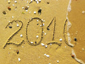End of 2010 on the beach — Stock Photo