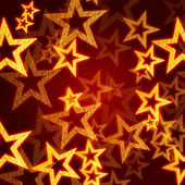 Golden stars in red background — Stock Photo