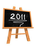 2011 on blackboard — Stock Photo