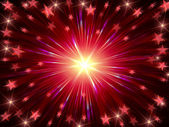 Christmas background radiate in red and violet — Stockfoto
