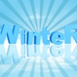 3d winter in blue rays — Stock Photo #4364397