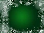 Christmas snowflakes in green — Stock Photo