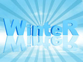 3d winter in blue rays — Stock Photo