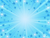Christmas background radiate in blue — Stok fotoğraf
