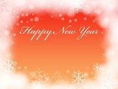 Happy New Year in orange — ストック写真