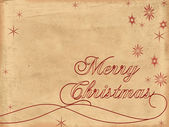 メリー クリスマスの古い紙 2 — ストック写真