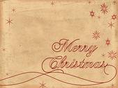 Merry christmas eski kağıt 2 — Stok fotoğraf