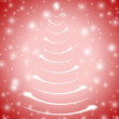 Christmas tree in red 5 — Stock Photo