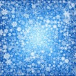 White snowflakes in blue — Stock Photo