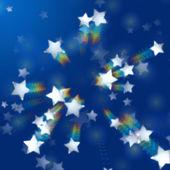 радугой звезд в голубом — Стоковое фото