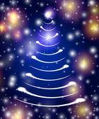 белый рождественская елка в голубом — Стоковое фото