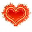 Fire heart 2 — Stock Photo