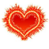 Fire heart 2 — Stock Photo