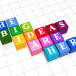 The big ideas are here in colour — Stock Photo
