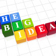 Stock Photo: Big ideas in colour