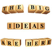 The big ideas are here isolated — Stock Photo