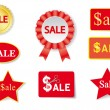 Sales tags and stickers collection (vector) — Vettoriale Stock #4877143