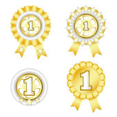 Four gold award in vector format. — Stock Vector