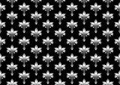 Seamless elegant wallpaper. Vector illustration on a black background — Stock Vector