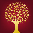 Royalty-Free Stock Vector Image: Gold Tree