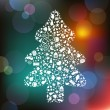 Royalty-Free Stock Imagen vectorial: Christmas Tree From Symbols