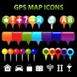 Stock Vector: GPS Map Icons