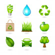 Eco Design Elements And Icons — Stock Vector