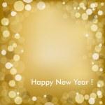 Happy New Year Golden Vector Background — Stock Vector