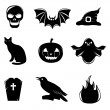 Halloween Icons — Stockvectorbeeld