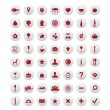 Restaurant And Map Icons Vector Set — Stock Vector #4329122