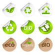 Eco Stickers — Vettoriali Stock