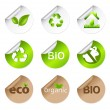 Eco Stickers — Stock Vector
